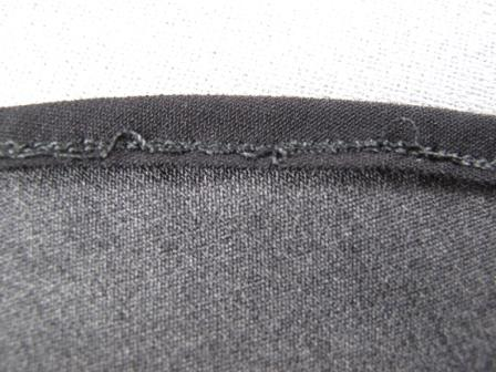 Sewing a curved hem