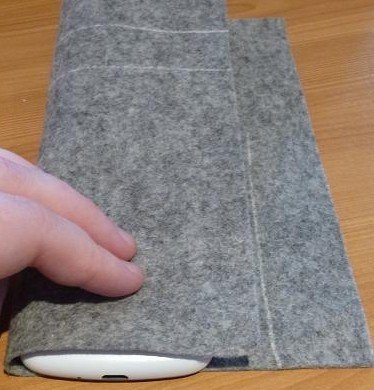 Lining a gadget case with felt