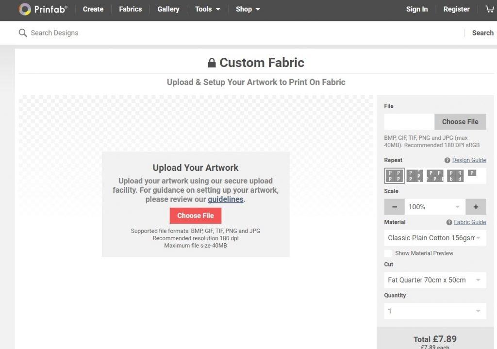 Custom fabric printing from Prinfab