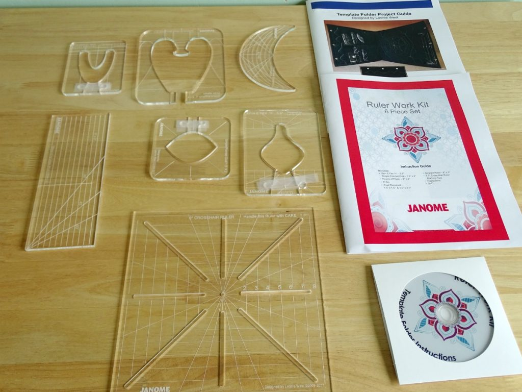What quilting rulers come in the Janome rulerwork kit?