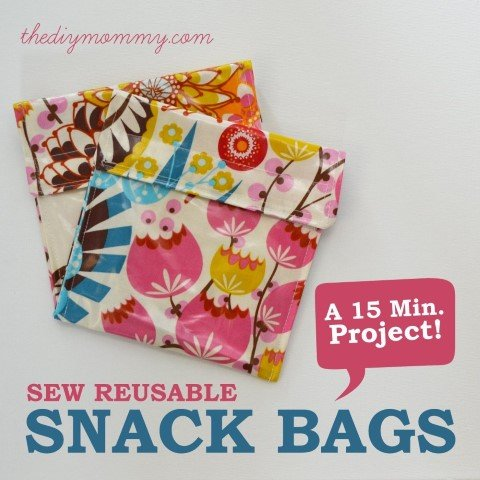 Snack bag sewing project
