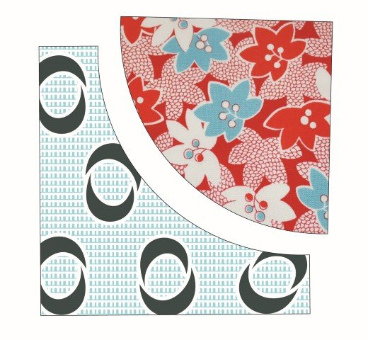Sewing curved patchwork with no pins