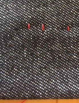 Tiny stitches for a blind hem