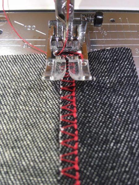 Stitching a single fold hem