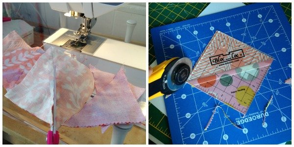 Learn how to sew half square triangles