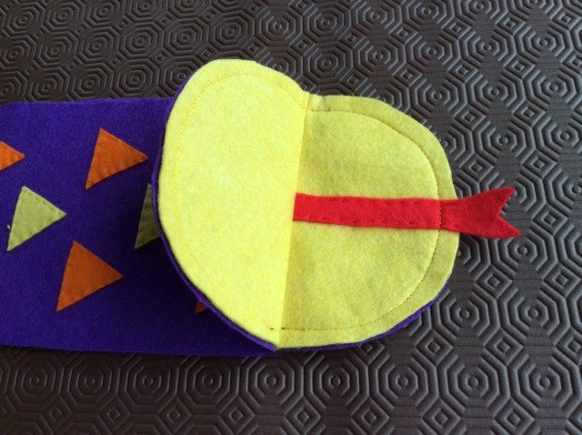 How to sew a hand puppet from felt