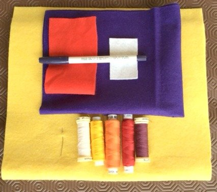 Children's sewing projects with felt