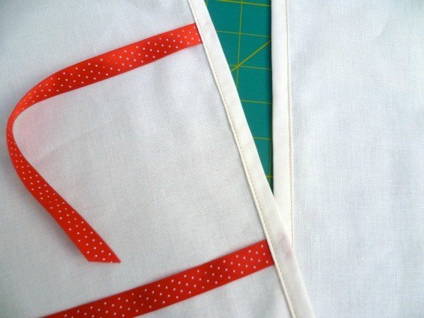 Adding ties to a cushion back