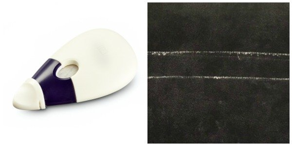 Chalk wheel fabric marking