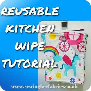Sew some reusable kitchen wipes