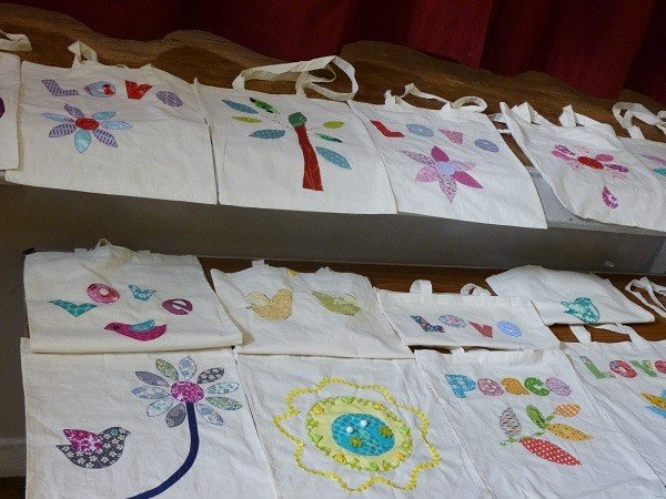 Sewing bags for charity
