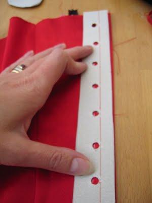 Adding boning to a corset