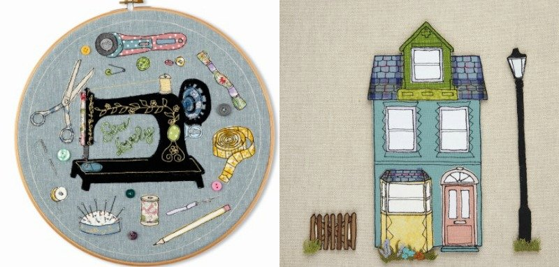 How to sew textile pictures with your sewing machine