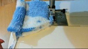 Machine sewing cuddle fleece