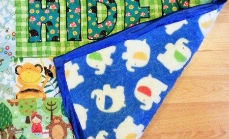 Backing a quilt with cuddle fleece