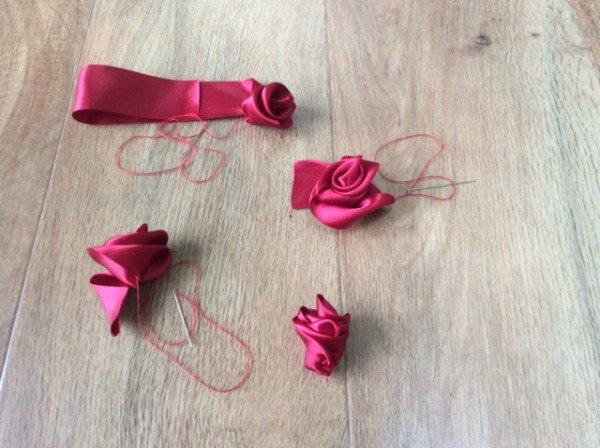 Skills for making ribbon roses