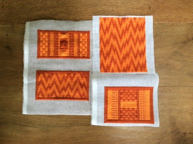 Samples of canvas work stitches