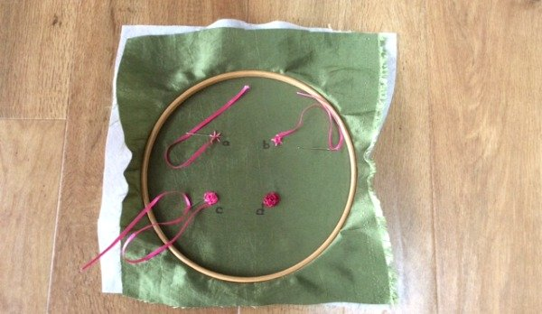 Weaving ribbons for embroidery