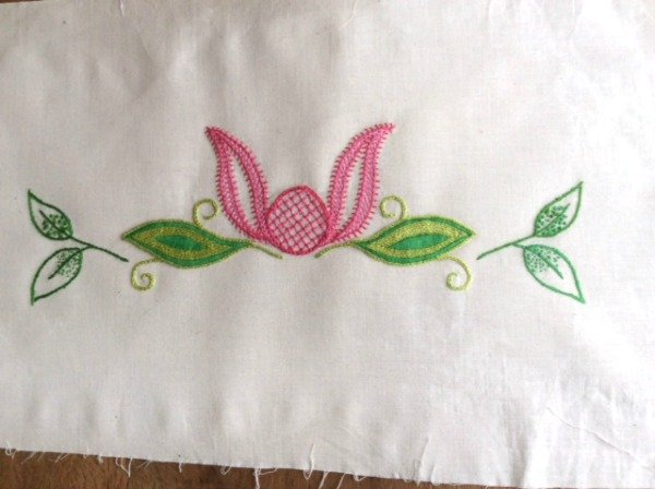 Stitch a panel in Jacobean embroidery