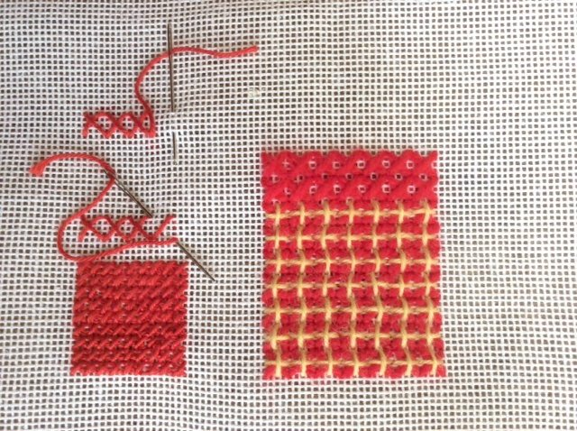 Cross stitch on canvas