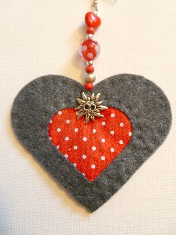 Heart hanging ornament project