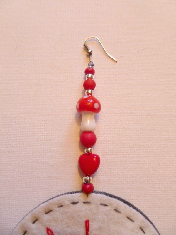 Using beads to make a hanging ornament