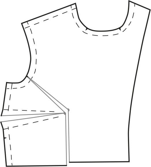 Change bust size on a sewing pattern