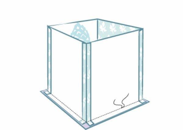 Fabric storage cube instructions
