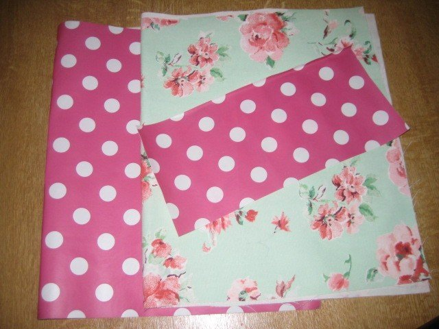 Oilcloth sewing project