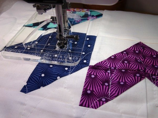 Using the Janome ruler work sewing machine foot