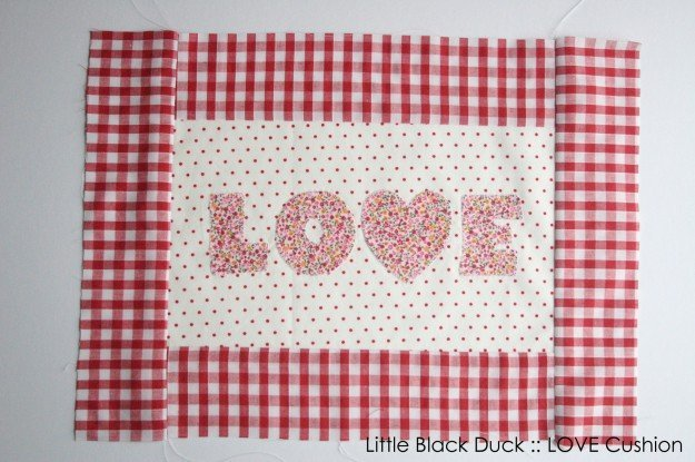 How to sew a heart applique cushion