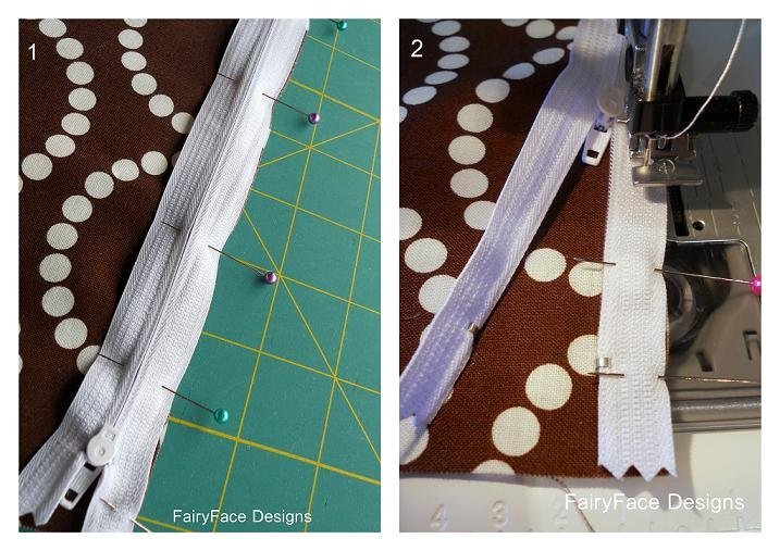 How to sew a zip