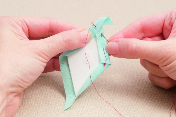 Basting diamonds for patchwork