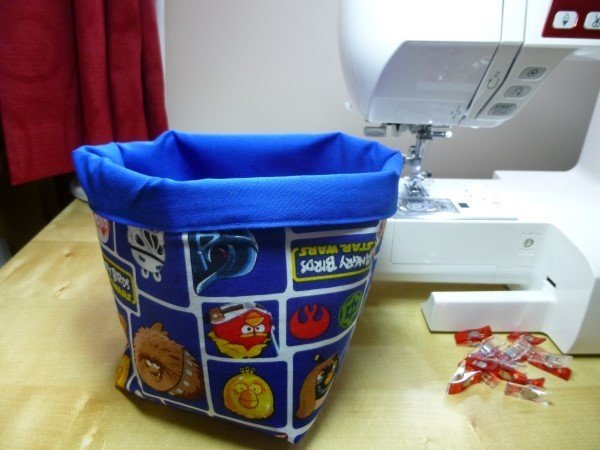 Easy fabric box to sew
