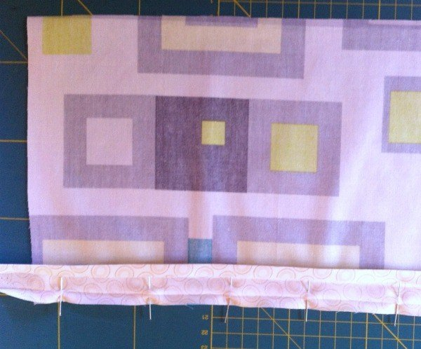 Sewing a bound pocket