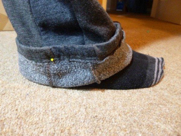 How to shorten trouser legs