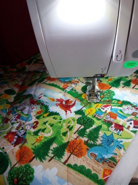 Quilting for a cushion panel