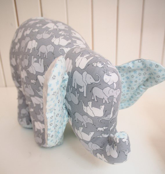 Soft toy elephant project