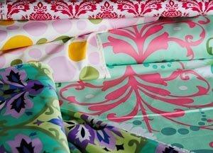Choice of fabrics for cushions