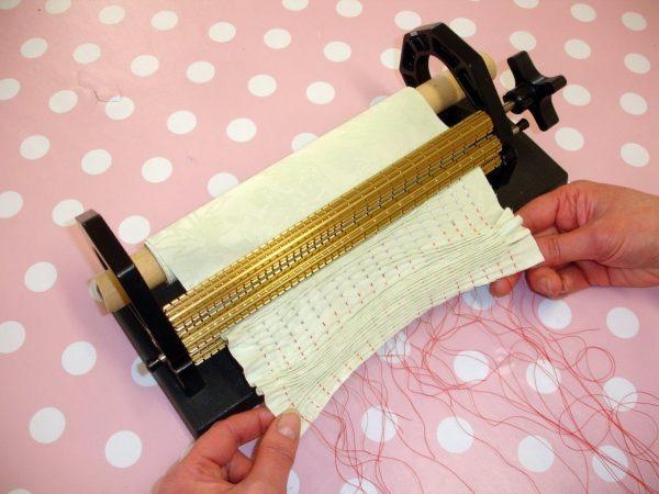 Using a pleater machine