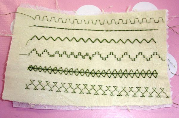 Decorative stitches used for smocking