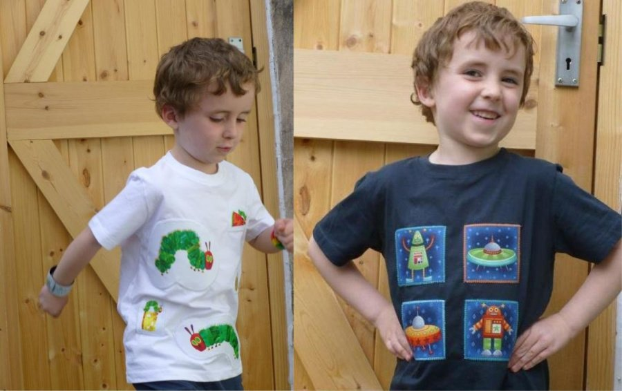 Free project for applique t-shirts