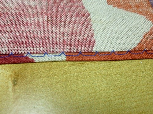Using a blind hem stitch
