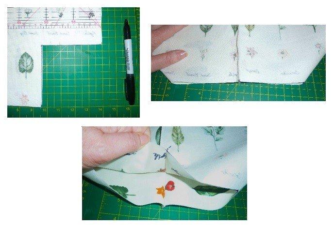 Making a shaped bag bottom