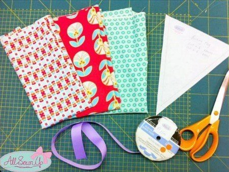 What supplies do you need to make bunting?