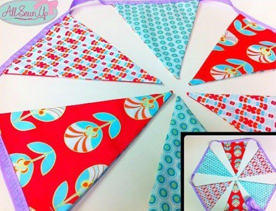How to sew bunting