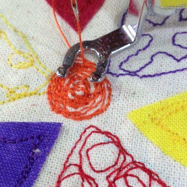 Free motion stitch project