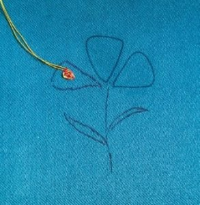 Embroidering with metallic thread
