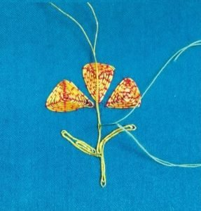 How to embroider with gold thread