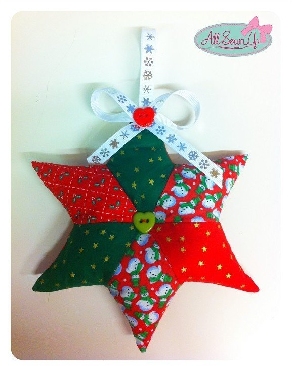 Hanging patchwork star sewing project
